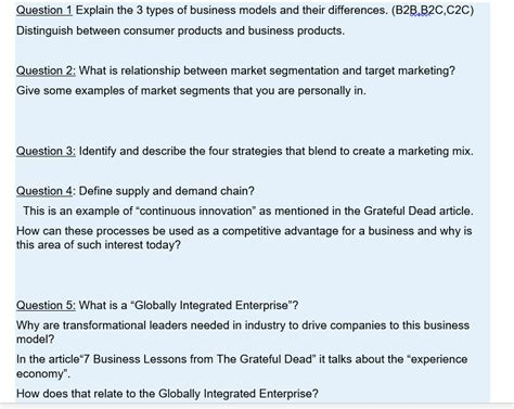 Solved Explain The 3 Types Of Business Models And Their D Cheggcom