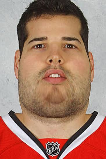 entire blackhawks team    extremely fat
