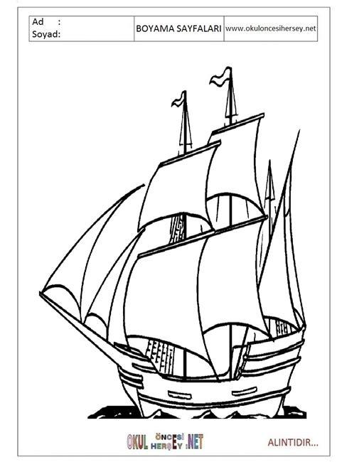 Tekne Boyama by Yelkenli Gemi Boyama Sayfaları