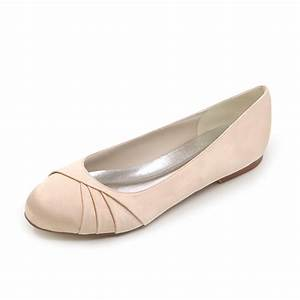 elegant woman wedding party satin dress shoes flats ladies With dress flats for wedding