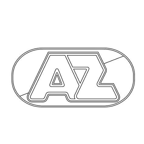 Kleurplaat Logo by Leuk Voor Logo Az Alkmaar