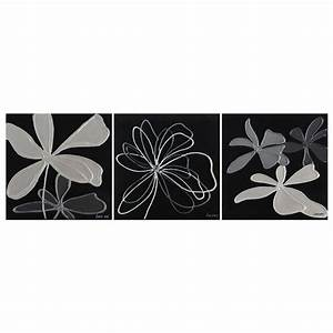 grayscale garden 3 piece wall art oil painting dcg stores With what kind of paint to use on kitchen cabinets for three piece wall art sets