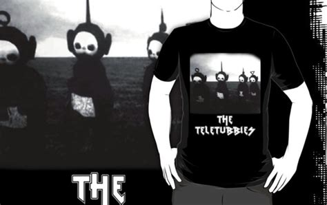 black  white teletubbies  widescreen wallpaper