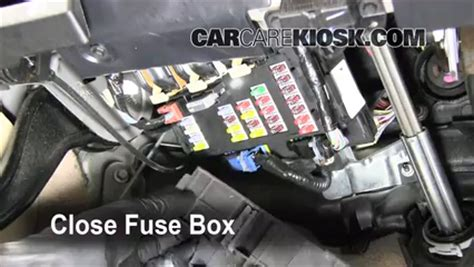 interior fuse box location   ford freestyle
