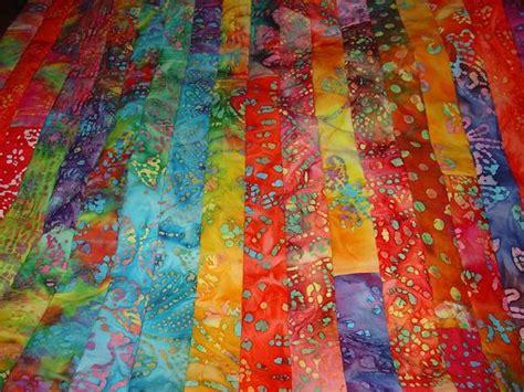 batik jelly roll quilt