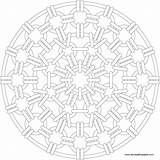 Mandala Coloring Chain Printable sketch template