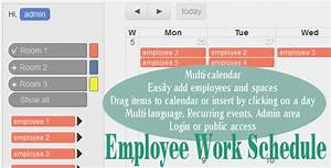 Employee work schedule multi calendar social media and for Multiple employee schedule template
