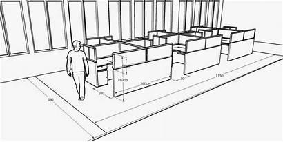 Meja Sekat Kantor Interior Desain Cubical Cubicle