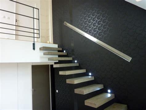 escalier bois moderne suspendu contemporain escalier