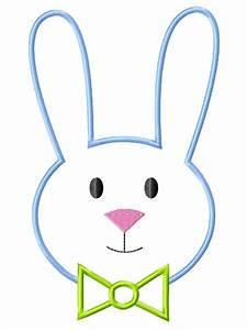Easter rabbit outline - Boy Bunny Face Machine Embroidery ...