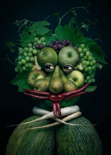 colorful food art ideas  compose faces  fresh fruits
