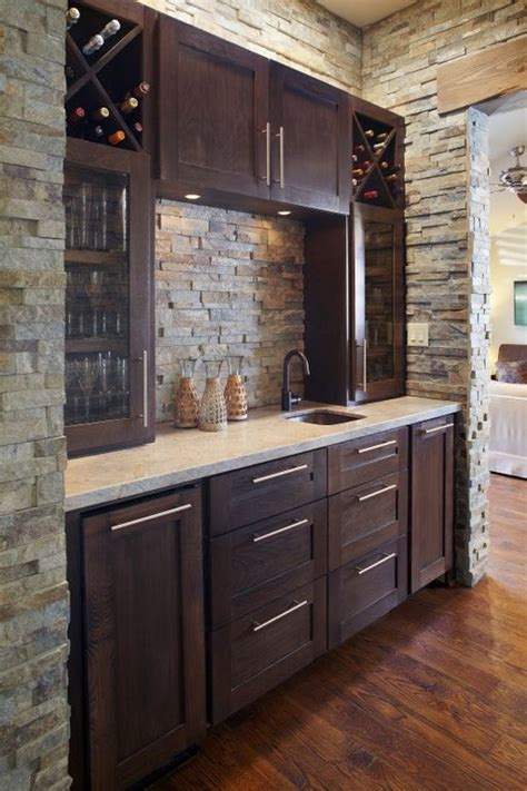 Basement Bar Cabinet Ideas contemporary bar with hardwood floors style selections 7