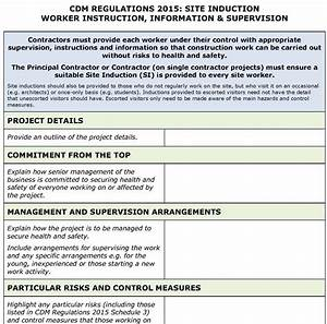Construction and use regulations 2015 related keywords for Cdm health and safety file template