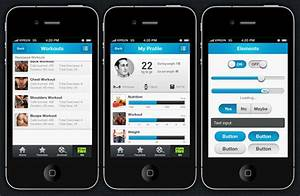 fitpulse iphone and ios app ui design templates With iphone app design template free