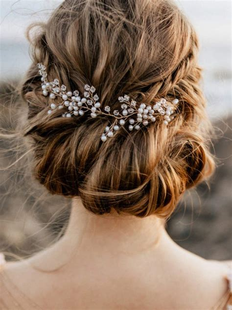 Fxmimior Bride Hair Accessories Crystal Hair