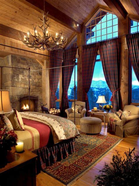 deco chambre chalet chambre rustique dans un chalet de luxe chambre