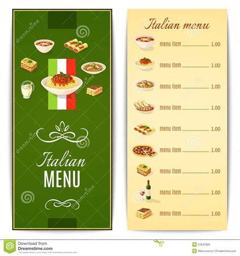 carte cuisine food menu stock vector image 51841929