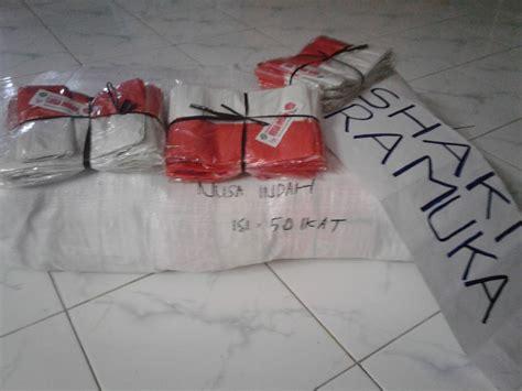 jual bendera plastik merah putih murah shaki pramuka
