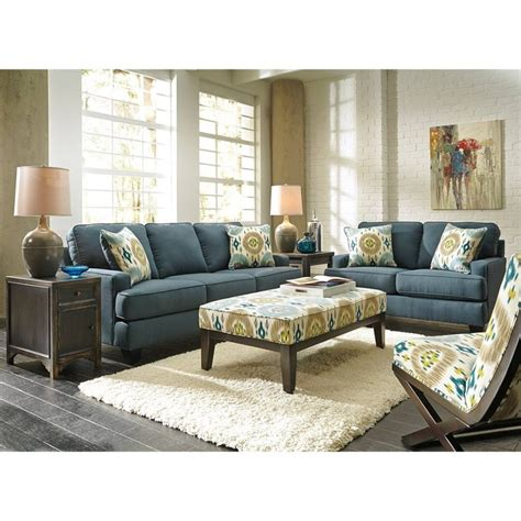 blue and brown sofa blue living room furniture modern house