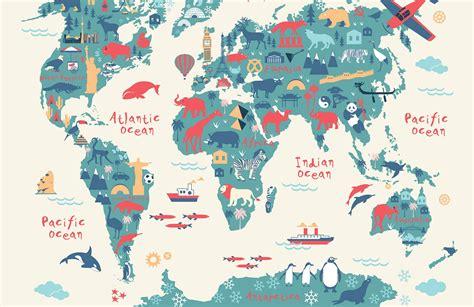 explorer kids world map mural muralswallpapercouk