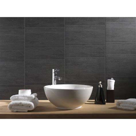 plaques adhesives salle de bain lambris pvc min 233 ral anthracite moyen grosfillex l 260 x l 37 5 cm x ep 8 mm leroy merlin