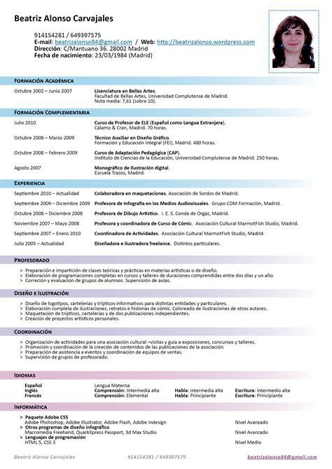 Resume Espanol by Resumes En Espanol Free Resume Templates