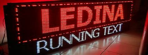 ledina running text jual running text murahdistributor