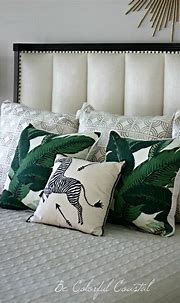 Modern Tropical Bedroom | Green and white bedroom, Girls ...