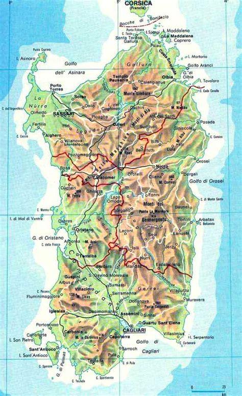 cuisine in cartes randonnée sardaigne 1 25000