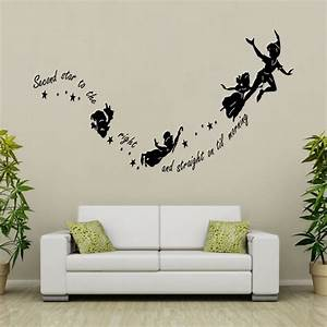 tinkerbell peter pan removable wall decal vinyl sticker With kids wall decals