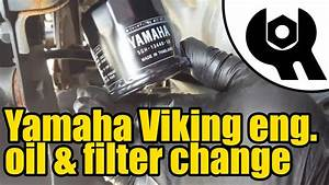 Yamaha Viking - Engine Oil  U0026 Filter Change  1814