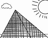 Pyramid Coloring Coloringcrew Pages sketch template