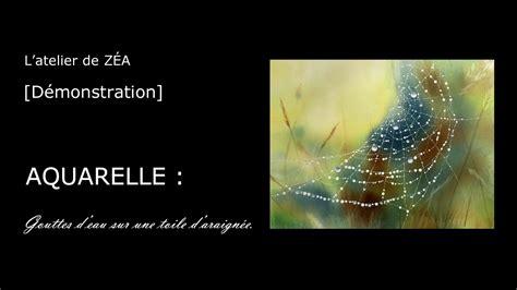 d 233 monstration aquarelle peindre des gouttes d eau sur une toile d araign 233 e