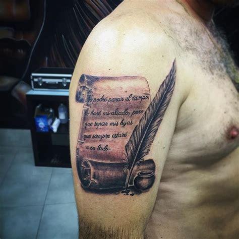 tatouage parchemin pour immortaliser  message fort
