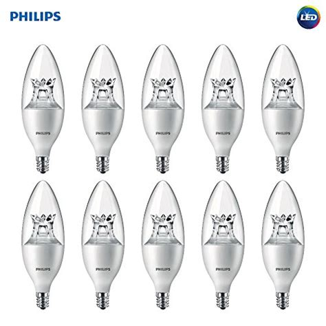 Phillips Led Len by Philips Led Dimmable B12 Clear Light Bulb With Warm Glow