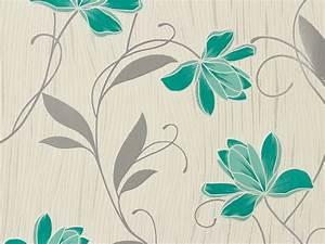 Tapete Blumen Modern : tapete blumen wei t rkis as creation 3062 10 ~ Eleganceandgraceweddings.com Haus und Dekorationen