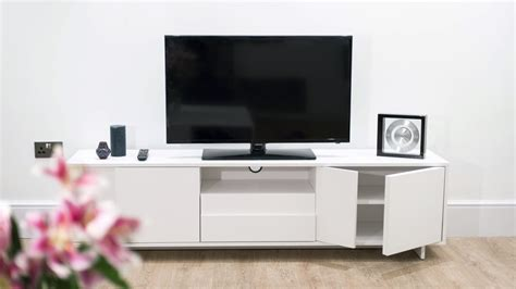 white tv stand with storage modern tv unit white oak veneer stylish storage cabinet 1880