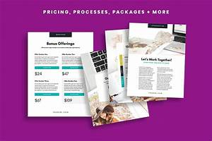 Services Pricing Guide Indesign  Included Format Canva