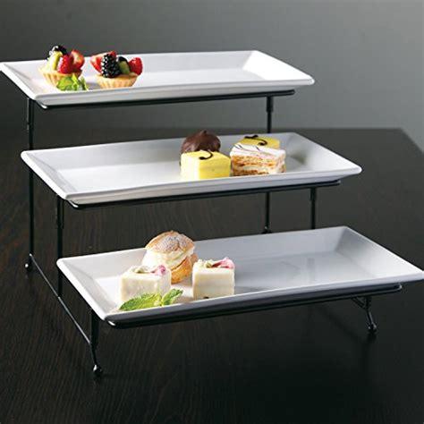 chefland  tier rectangular serving platter  tiered cake tray dessert stand food server