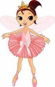Vector Illustration of Little Cute dancing Fairy Ballerina ...