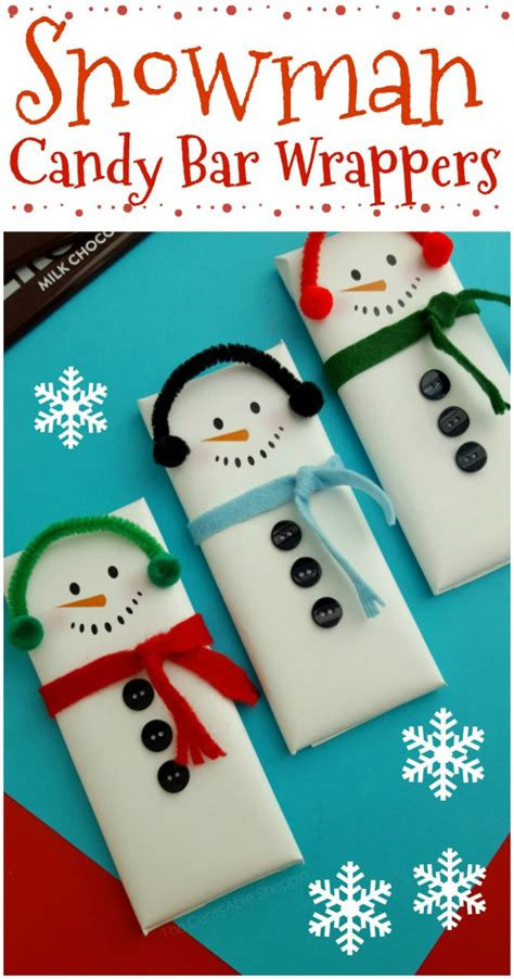 Mini candy bar wrappers christmas candy wrappers christmas. Snowman Candy Bar Wrapper Printable | The CentsAble Shoppin
