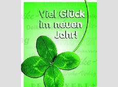 Vierblättriges Kleeblatt Viel Glück im neuen Jahr