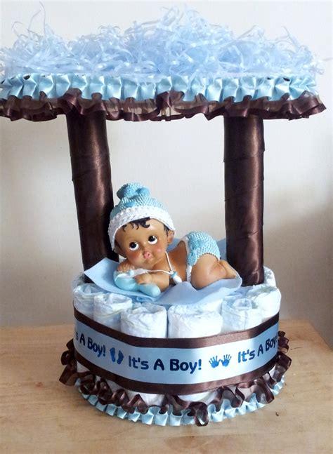 ohsoprecious  light blue  brown baby shower