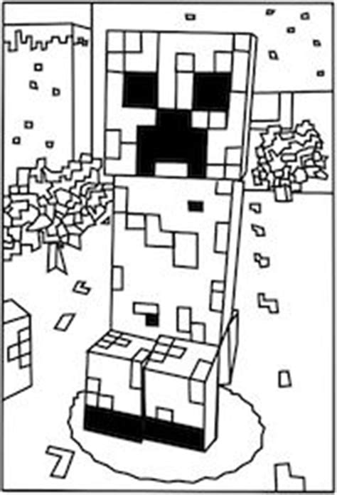 creepers minecraft  coloring pages  pinterest