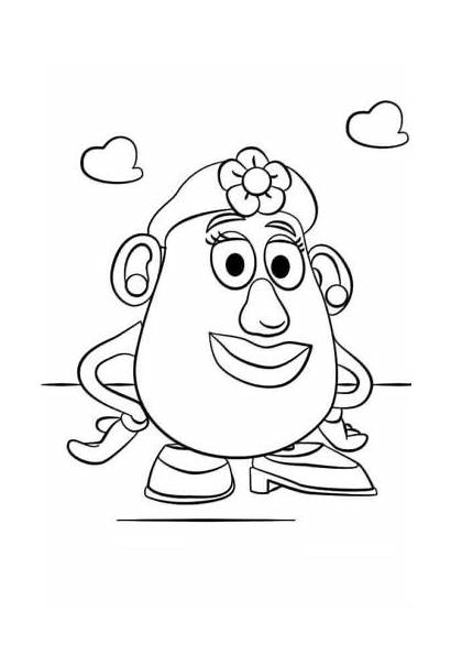 Coloring Potato Head Mrs Toy Story Pages