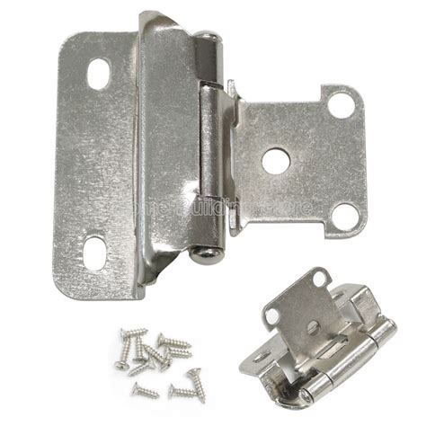 self closing hinges for kitchen cabinets 1 4 quot overlay self closing satin nickel cabinet kitchen