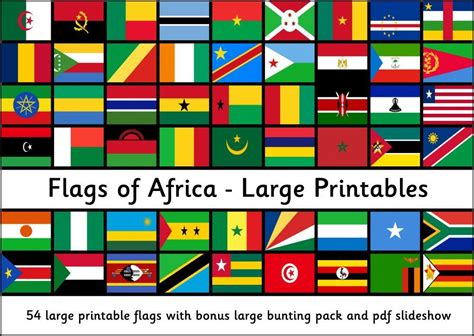 flags  africa large printable flags africa flag
