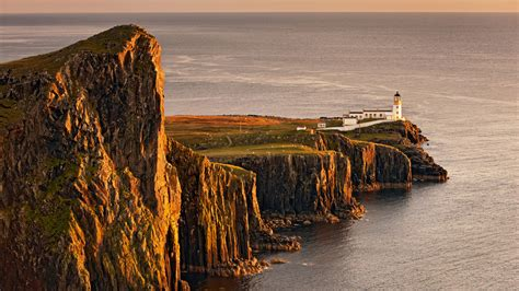 Travel Trip Journey Neist Point Lighthouse Glendale Isle
