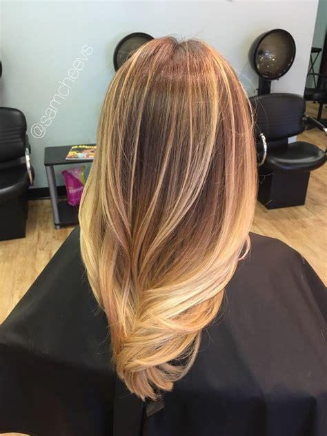 golden honey sandy warm platinum blonde hair  medium