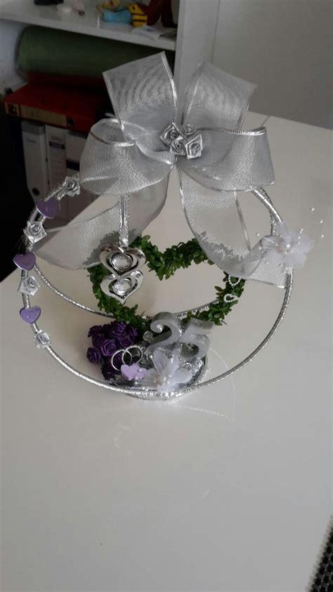 geschenke zur silberhochzeit selber machen geschenk zur silberhochzeit krone selbst gebastelt basteln silberhochzeit geschenk